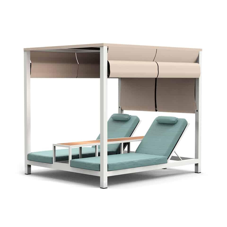 WA1048 AMBER DOUBLE BEACH BED [WHITE+MINT]