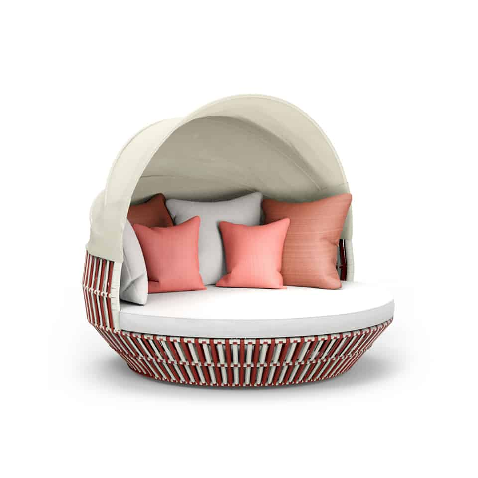 WA1038 APRICOT ROUND BED WITH COVER (1)